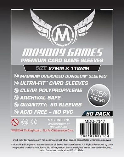 "!  Mayday Games - ""Munchkin"" Oversized Dungeon Card Sleeves (Premium) - 87x112mm - 50 Lommer - #MAY7147"