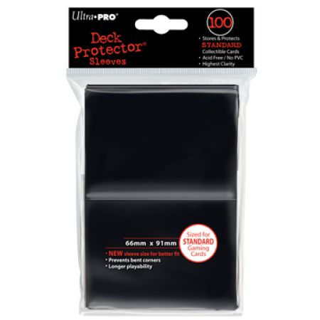 100 lommer - Ultra Pro Black  (Sorte) (Høj kvalitet) - Sleeves #82691