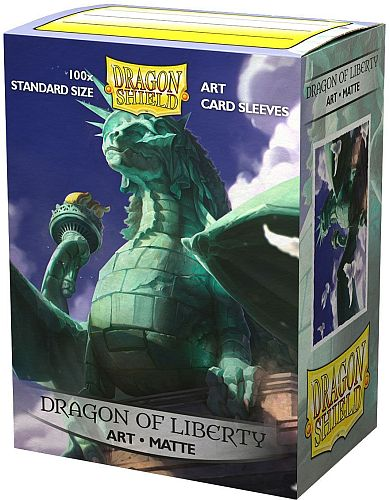 Dragon Shield Deck Protectors - Matte Art Sleeves: Dragon of Liberty - 100 lommer - Dragonshield - Sleeves #LIM-AT-12052