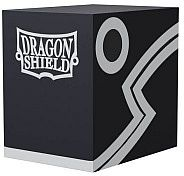 Dragon Shield Double Shell (Deck Box) - Black/Black - Plads til 150 kort i lommer - Dragonshield #AT-30602