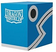 Dragon Shield Double Shell (Deck Box) - Blue/Black - Plads til 150 kort i lommer - Dragonshield #AT-30603