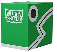 Dragon Shield Double Shell (Deck Box) - Green/Black - Plads til 150 kort i lommer - Dragonshield #AT-30604