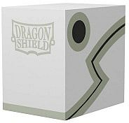 Dragon Shield Double Shell (Deck Box) - White/Black - Plads til 150 kort i lommer - Dragonshield #AT-30605