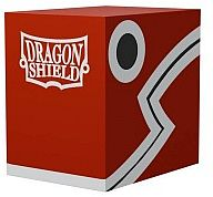 Dragon Shield Double Shell (Deck Box) - Red/Black - Plads til 150 kort i lommer - Dragonshield #AT-30607