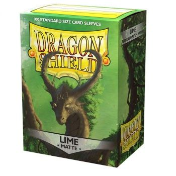 Dragon Shield Deck Protectors - Matte Lime - 100 lommer - Dragonshield - Sleeves #AT-11038