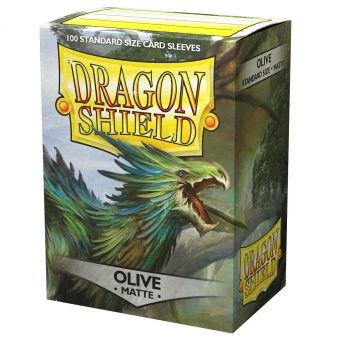 Dragon Shield Deck Protectors - Matte Olive - 100 lommer - Dragonshield - Sleeves #AT-11040