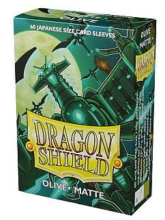 Dragon Shield Small/Japanese Size Deck Protectors - Matte Olive - 60 lommer - Dragonshield (Yugioh) - Sleeves #AT-11140
