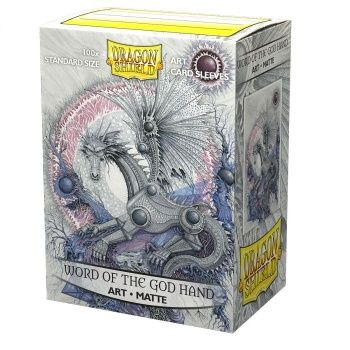 Dragon Shield Deck Protectors - Matte Art Sleeves: Word of the God Hand - 100 lommer - Dragonshield - Sleeves #AT-12039