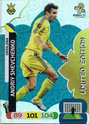 ! Andriy Shevchenko - EM Euro 2012 - Ukraine - Panini Adrenalyn XL - Limited Edition