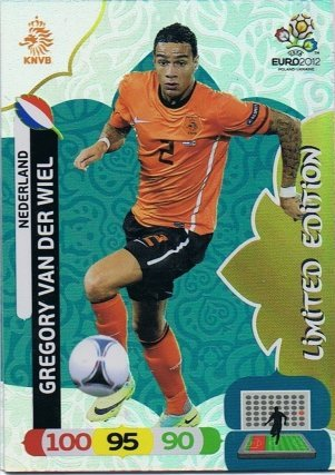 ! Gregory van der Wiel - EM Euro 2012 - Holland - Panini Adrenalyn XL - Limited Edition