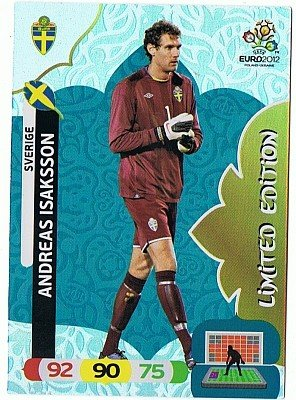 ! Andreas Isaksson - EM Euro 2012 - Sverige - Panini Adrenalyn XL - Limited Edition