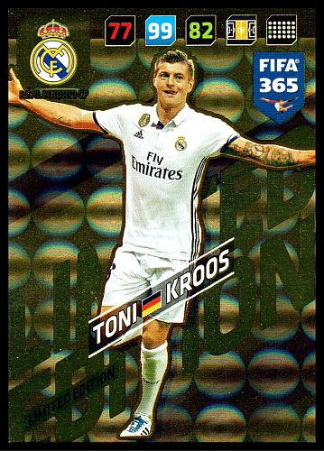 Adrenalyn FIFA 365 2018 Toni Kroos, Real Madrid CF