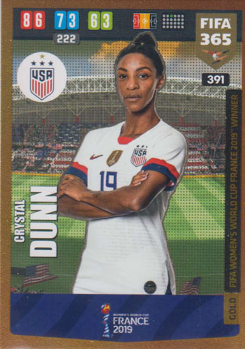 Adrenalyn XL FIFA 365 2020 - 391 Crystal Dunn - United States