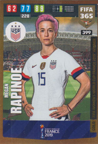 Adrenalyn XL FIFA 365 2020 - 399 Megan Rapinoe - United States