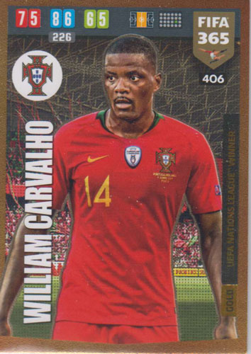 Adrenalyn XL FIFA 365 2020 - 406 William Carvalho - Portugal