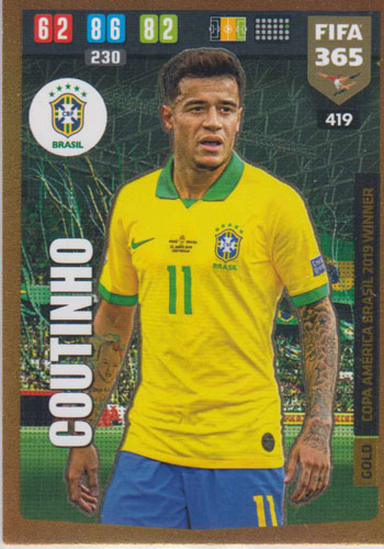 Adrenalyn XL FIFA 365 2020 - 419 Philippe Coutinho - Brazil