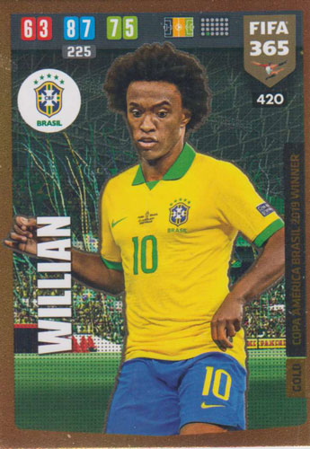 Adrenalyn XL FIFA 365 2020 - 420 Willian - Brazil