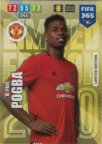 Adrenalyn XL FIFA 365 2020 - Paul Pogba (Manchester United)