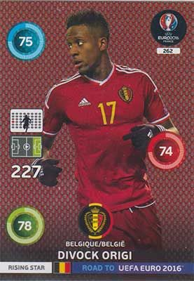 Adrenalyn Road to Euro 2016, BEL, Divock Origi