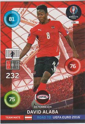 Adrenalyn Road to Euro 2016, AUT, David Alaba