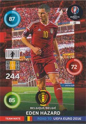 Adrenalyn Road to Euro 2016, BEL, Eden Hazard