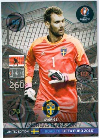 Adrenalyn Road to Euro 2016, Andreas Isaksson