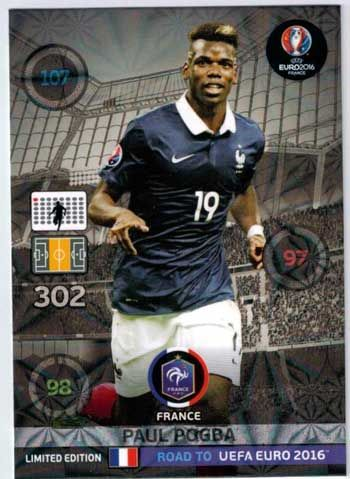 Adrenalyn Road to Euro 2016, Paul Pogba