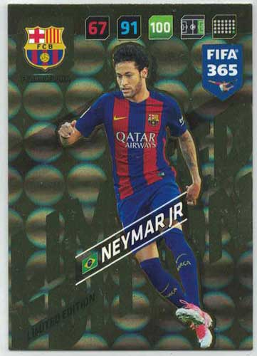 XXL Adrenalyn FIFA 365 2018 Neymar Jr, FC Barcelona (Stort kort / Large card)
