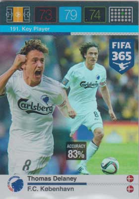 Adrenalyn FIFA 365 #191 Thomas Delaney
