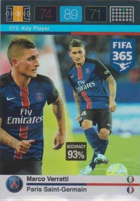 Adrenalyn FIFA 365 #212 Marco Verratti