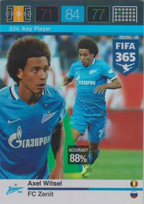 Adrenalyn FIFA 365 #224 Axel Witsel