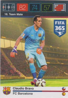 Adrenalyn FIFA 365 #018 Claudio Bravo