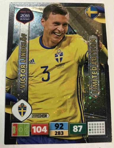 Panini Road To World Cup Russia 2018 Victor Lindelöf / Lindelof - Sweden