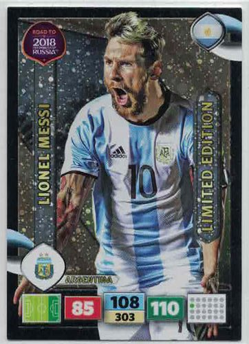 Panini Road To World Cup Russia 2018 XXL Lionel Messi - Argentina (Stort kort)