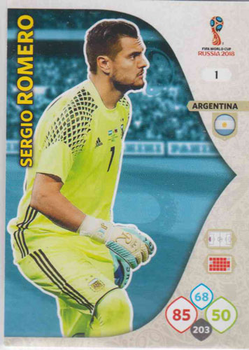 Adrenalyn World Cup 2018 #001 Sergio Romero (Argentina)