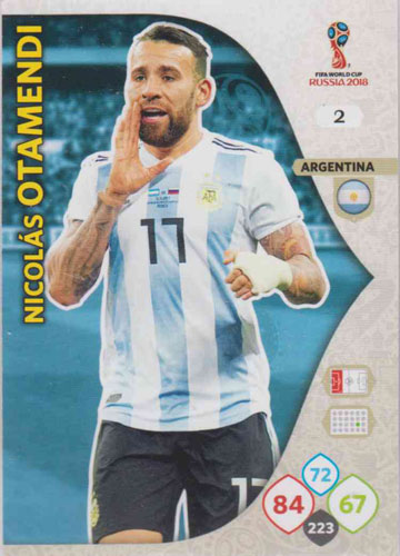 Adrenalyn World Cup 2018 #002 Nicolas Otamendi (Argentina)