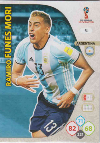 Adrenalyn World Cup 2018 #004 Ramiro Funes Mori (Argentina)