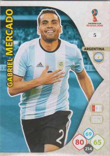 Adrenalyn World Cup 2018 #005 Gabriel Mercado (Argentina)