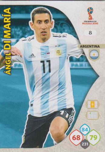Adrenalyn World Cup 2018 #008 Angel Di Maria (Argentina)