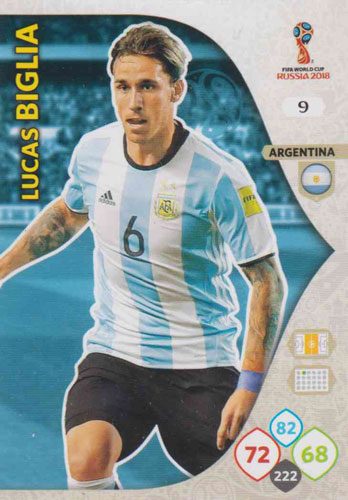 Adrenalyn World Cup 2018 #009 Lucas Biglia (Argentina)