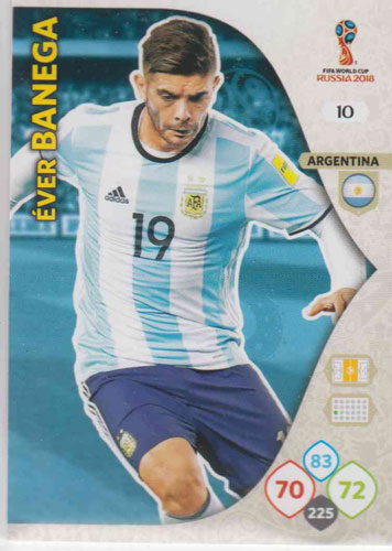 Adrenalyn World Cup 2018 #010 Ever Banega (Argentina)