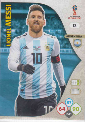 Adrenalyn World Cup 2018 #013 Lionel Messi (Argentina)