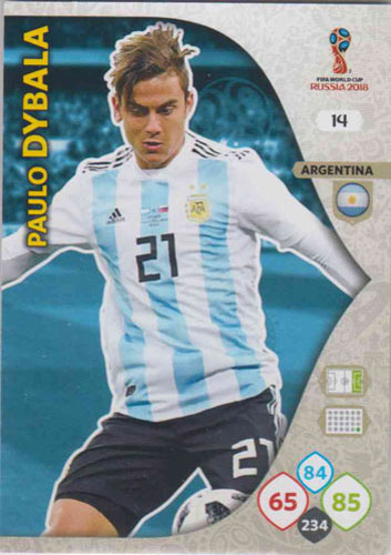 Adrenalyn World Cup 2018 #014 Paulo Dybala (Argentina)
