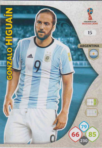 Adrenalyn World Cup 2018 #015 Gonzalo Higuain (Argentina)