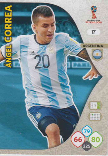 Adrenalyn World Cup 2018 #017 Angel Correa (Argentina)