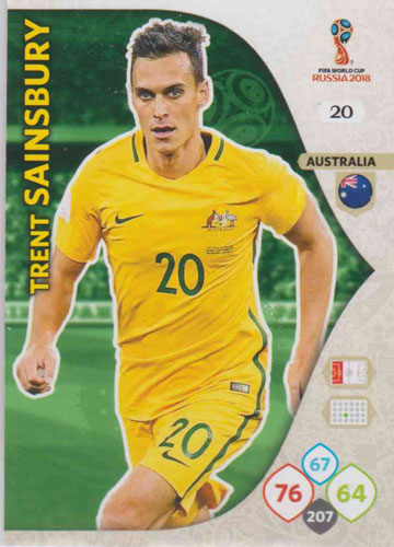Adrenalyn World Cup 2018 #020 Trent Sainsbury (Australia)