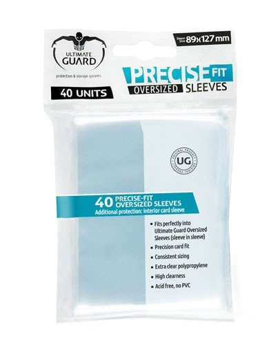 Ultimate Guard Precise-Fit Sleeves (Lommer) Oversized Transparent (40) (Perfect Fit) (Archenemy, Commander, Planechase)