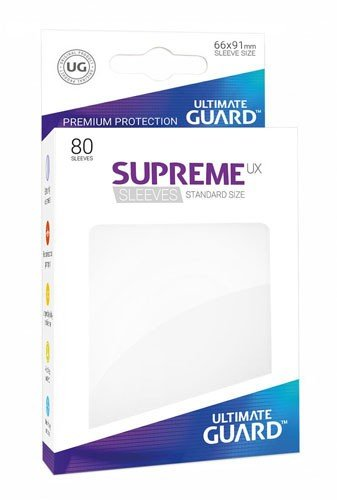 Ultimate Guard Supreme UX Sleeves (Lommer) Standard Size White (Hvid) (80)