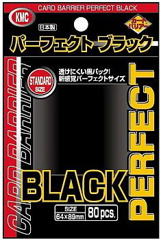 80 lommer - KMC Perfect Black - Dobbelt beskyttelse! - Perfect Size Card Barrier Sleeves (64x89mm)