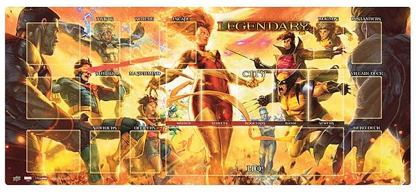 Spillemåtte (Playmat) - Marvel Legendary: Dark Phoenix VS X-Men